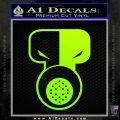 Tech N9ne Decal Sticker Neon Green Vinyl Black 120x120