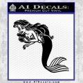 The Little Mermaid Decal Sticker Black Ariel Vinyl Black 120x120