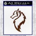 Tribal Wolf Head Decal Sticker D2 BROWN Vinyl 120x120