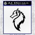 Tribal Wolf Head Decal Sticker D2 Black Vinyl 120x120