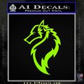 Tribal Wolf Head Decal Sticker D2 Lime Green Vinyl 120x120