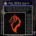 Tribal Wolf Head Decal Sticker D2 Orange Emblem 120x120