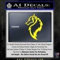 Tribal Wolf Head Decal Sticker D2 Yellow Laptop 120x120