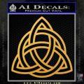 Trinity Knot Triquetra Decal Sticker Gold Vinyl 120x120