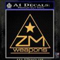 Zm Weapons Firearms Decal Sticker Gold Vinyl 120x120