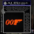 007 PPK James Bond Walther Decal Sticker D2 Orange Emblem 120x120