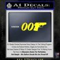 007 PPK James Bond Walther Decal Sticker D2 Yellow Laptop 120x120