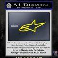 Alpine Star Logo Only Decal Sticker Yellow Laptop 120x120