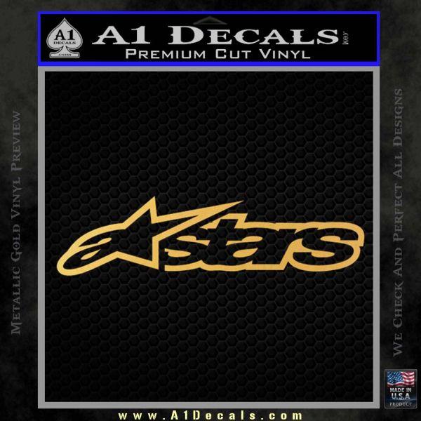 Alpine Stars D2 Decal Sticker Gold Vinyl