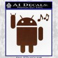 Android Rockin Out Music Decal Sticker BROWN Vinyl 120x120