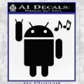 Android Rockin Out Music Decal Sticker Black Vinyl 120x120
