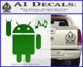 Android Rockin Out Music Decal Sticker Green Vinyl Logo 120x97