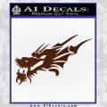Asian Dragon Head Decal Sticker BROWN Vinyl 120x120