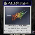 Asian Dragon Head Decal Sticker Glitter Sparkle 120x120