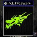 Asian Dragon Head Decal Sticker Lime Green Vinyl 120x120