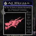 Asian Dragon Head Decal Sticker Pink Emblem 120x120