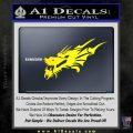 Asian Dragon Head Decal Sticker Yellow Laptop 120x120