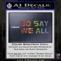 BSG So Say We All Decal Sticker Battle Star Galactica Glitter Sparkle 120x120