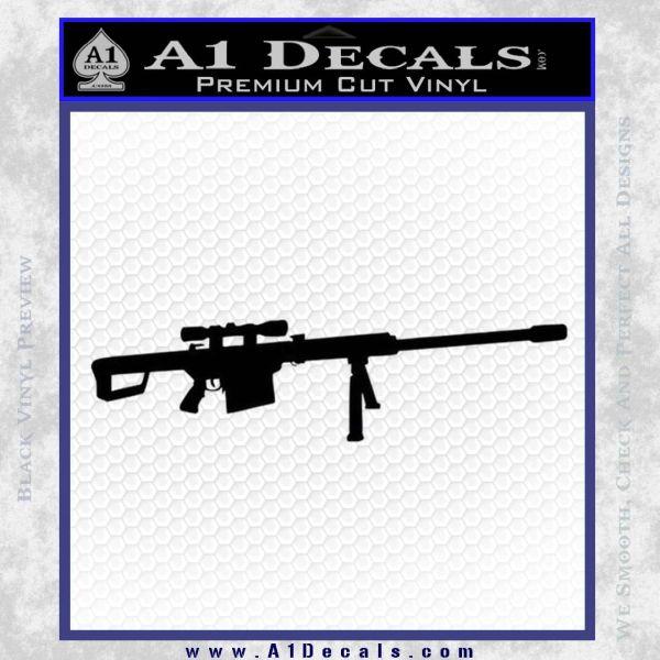 Barrett 50 Caliber Decal Sticker Black Vinyl