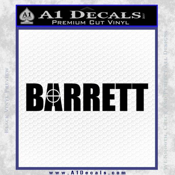 Barrett Decal Sticker WideA Black Vinyl