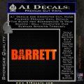 Barrett Decal Sticker WideA Orange Emblem 120x120