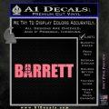 Barrett Decal Sticker WideA Pink Emblem 120x120
