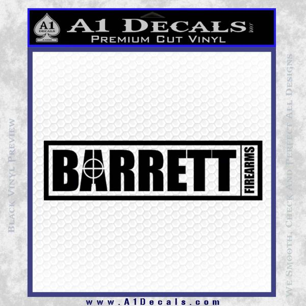 Barrett Decal Sticker WideB Black Vinyl