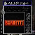 Barrett Decal Sticker WideB Orange Emblem 120x120