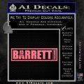 Barrett Decal Sticker WideB Pink Emblem 120x120