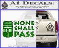 Black Knight None Shall Pass Monty Python Decal Sticker Green Vinyl Logo 120x97