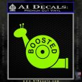 Boosted Snail Decal Sticker Lime Green Vinyl 120x120