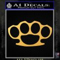 Brass Knuckles Decal Sticker Gold Vinyl 120x120