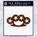 Brass Knuckles Decal Sticker Rock Star BROWN Vinyl 120x120