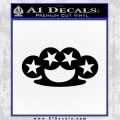 Brass Knuckles Decal Sticker Rock Star Black Vinyl 120x120