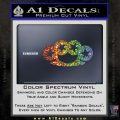 Brass Knuckles Decal Sticker Rock Star Glitter Sparkle 120x120