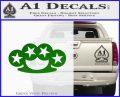 Brass Knuckles Decal Sticker Rock Star Green Vinyl Logo 120x97