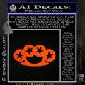 Brass Knuckles Decal Sticker Rock Star Orange Emblem 120x120