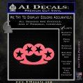 Brass Knuckles Decal Sticker Rock Star Pink Emblem 120x120