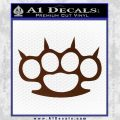 Brass Knuckles Spiked Decal Sticker BROWN Vinyl 120x120