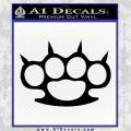 Brass Knuckles Spiked Decal Sticker Black Vinyl 120x120