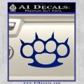 Brass Knuckles Spiked Decal Sticker Blue Vinyl 120x120