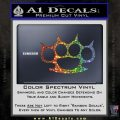 Brass Knuckles Spiked Decal Sticker Glitter Sparkle 120x120