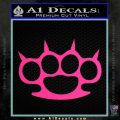 Brass Knuckles Spiked Decal Sticker Pink Hot Vinyl 120x120