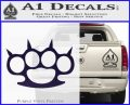 Brass Knuckles Spiked Decal Sticker PurpleEmblem Logo 120x97