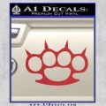 Brass Knuckles Spiked Decal Sticker Red 120x120