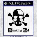 Breaking Bad Crossbones Decal Sticker Black Vinyl 120x120