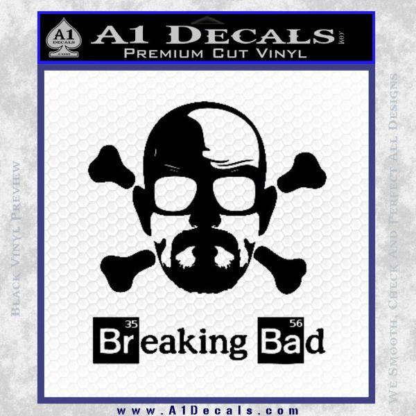 Breaking Bad Crossbones Decal Sticker Black Vinyl