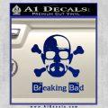 Breaking Bad Crossbones Decal Sticker Blue Vinyl 120x120