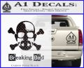 Breaking Bad Crossbones Decal Sticker Carbon FIber Black Vinyl 120x97
