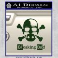 Breaking Bad Crossbones Decal Sticker Dark Green Vinyl 120x120
